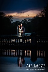 Air Image Wedding (Air Image) Tags: wedding outdoor lake reflection night sunset ad600 godox bride groom coombeabbey coventry england