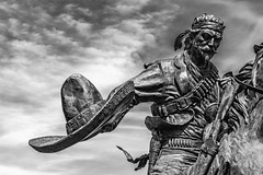 Vaquero (Mike Schaffner) Tags: bw blackwhite blackandwhite cowboy horse monochrome robertsummers sculpture statue vaquero vaquerolonghorn waco texas unitedstates us