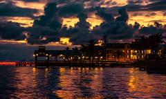 Dusk in Key West (The Sergeant AGS (A city guy)) Tags: 2016 afternoon architecture bay colors dusk exploration florida island keywest keys miamifl oceanviews pier sky sony sonya6000 sonyselp18105g sonylens sun tourists unitedstates urbanexploration walking walkways waterways best clouds sunset