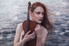 Canto (Furcifer07) Tags: muse music violin canto song symphony model red head ginger girl woman lake water ocean waves blue autumn cold pink lips beautiful portrait portraiture sky sunset dock seaside notes cloud clouds fog concept conceptual background wallpaper desktop canon 5d mark iii lorenschmidt levitate levitation