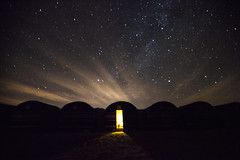 My roof that night (marciemarcia) Tags: jordan travel wadirum stars clouds