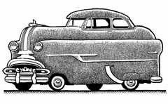 Plumpmobile (Don Moyer) Tags: car auto automobile vehicle ink drawing moleskine notebook moyer donmoyer brushpen