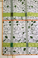 Old Ways quilt - detail back (Lotje quilts) Tags: old ways quilt modern fmq low volume house patchwork piecing quilted transparency