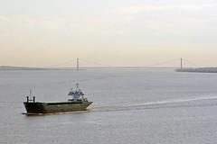 Jomi heading out to sea. (Vodka Burner) Tags: jomi vessel cargovessel humberbridge generalcargoship jomiimo9038397 humberestuary riverhumber