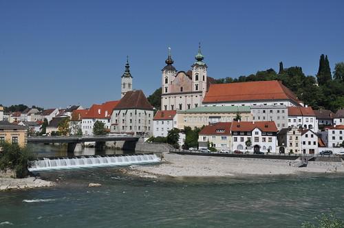Blick von der Brücke in Steyr