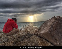 Photo accepted by Stockimo (vanya.bovajo) Tags: stockimo iphonegraphy iphone disappointed man stress stressed alone problems problem scenic scenary sea light teenager day taking break active caucasian