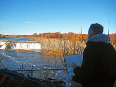 Artist Stephen B. Whatley in America - November 2016 (Stephen B. Whatley) Tags: art artist expressionism thanksgivingday2016 thanksgiving2016 thanksgiving usa us america ny waterfall landscape fall autumn bluesky enpleinair man male artistdrawing artistatwork artistonlocation beauty nature seagulls drawing drawingbox drawingbook sketchbook trees cliffs rocks artiststephenbwhatley whatley stephenwhatley painter stephenbwhatley expressionist newyorkstate timemagazine theroyalcollction bbc toweroflondon toweroflondonartist blueribbonwinner anawesomeshot abigfave cohoesfalls canoefalls cohoesny mohawkriver waterfordny mohawkpeople upstateny upstatenewyork cohoesfallsny