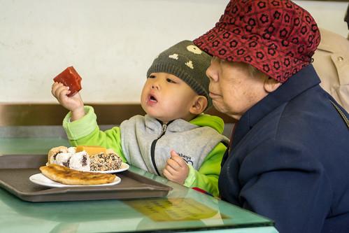 Petit déjeuner à Pékin