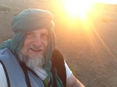Selfie: on camel with setting sun (John Englart (Takver)) Tags: morocco zagora cameltrek camels desert saharadesert selfie johnenglart sunset dusk