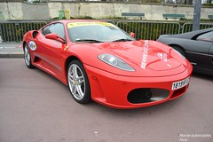 Ferrari F430 (Monde-Auto Passion Photos) Tags: auto automobile ferrari f430 coup rouge france rally paris evenement supercar sportive