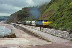 47.375 Teignmouth 3rd June 88. (54A South dock) Tags: 47375 teignmouth 1988