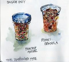 Food Sketches, 24 Nov 2016 (calliartist) Tags: foodart sketches urbansketches penandink watercolorsketch