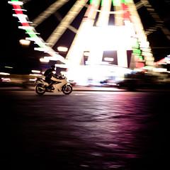 Motorbike in Paris (Zeeyolq Photography) Tags: ferriswheel france granderoue moto motorbike night paris placedelaconcorde speed îledefrance