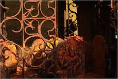 fear, saundatti (nevil zaveri (thank you for 10 million+ views :)) Tags: zaveri india karnataka yellamma saundatti temple photography photographer images photos blog stockimages photograph photographs nevil nevilzaveri stock photo holy sacred stilllife idol grill sunlight shadow