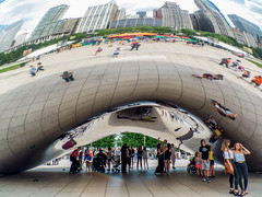 Cloud Gate (tubblesnap) Tags: cloud gate sculpture bean shiny silver chicago installation tourist attraction reflection