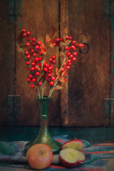 SL041216 Still Life 04 (Sh4un65_Artistry) Tags: artwork digitalart digitalpainting foodstuffs fruit niksoftware painteffect paintedphoto painterly plants pottery stilllife textiles textured topaz topazimpression topaztextureeffects woodwork