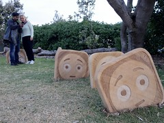 Sculptures by the Sea 2016 (gigchick) Tags: people faces face worried emoticons emoticon emoji sculpture sculptures sculpturesbythesea