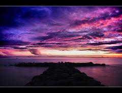 T (Sante sea) Tags: longexposure sea sky italy roma clouds italia nuvole mare cielo