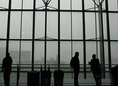 silhouettes in the rain (Andrew Huff) Tags: silhouette silhouettes sxsw sxswinteractive sxswi austinconventioncenter sxswi2012