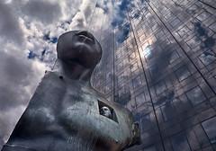 Le Grand Toscano (Cal Redback) Tags: cloud paris france statue canon colored reflexion ladfense canon2470f28 legrandtoscano canon5dmarkii calredback