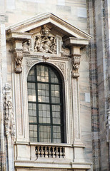 Window Surround (Jocey K) Tags: city italy sculpture milan detail window architecture buildings reflections arch cathedral balcony relief marble figures milancathedral cosmostour6330
