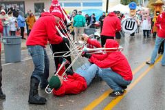 Death By Trombone (K. Eberhardt) Tags: fall uw bay sister band parade marching trombone fest