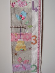 Growth chart Ryleigh1 (Roxy Creations) Tags: chart flower floral animal butterfly handmade linen felt bee growth applique beehive handembroidered