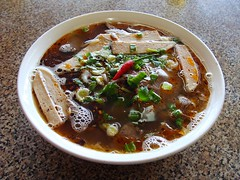 Pho Bo Hue at Bao Chau (knightbefore_99) Tags: new hot soup vietnamese bc flat vietnam noodles spicy hastings pho eastvan ancouver bunbohue