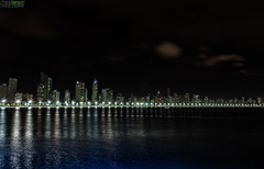 Reflejos en el mar.- (Pablin79) Tags: city blue light sea summer sky seascape brasil skyline night clouds digital canon silver buildings reflections eos reflex holidays cityscape nightscape 5d vacations pipa camboriu markii canoneos5dmarkii 5dmkii pabloreinschphotography