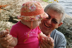 Sophie with Grandpa (Bonnie Kennedy) Tags: sophie cottage may grandpa 10months