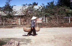 Typical Village Scene (Gene Whitmer) Tags: village vietnam 1972 dinhtuong