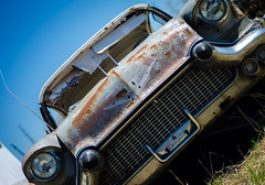 Old Car (x0allie) Tags: old summer car cool rust pretty headlights grill oldcar