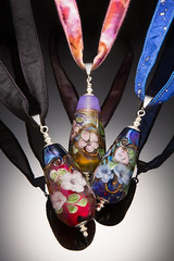 Tripomatic Floral Fairytale Pendants (Desert Rabbit Design) Tags: arizona glass phoenix necklace artist jewelry bead lampwork pendant lampworked michelecoletti