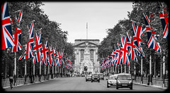 The Mall (Suggsy69) Tags: london nikon unionjack themall selectivecolour d5100
