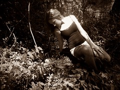 (capture_your_soul_) Tags: roses blackandwhite brown lake black eye rose sepia outdoors photography model eyes fishnet tanktop bestfriend leggings edits oods