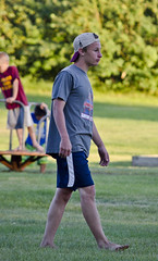 swimmer tosses football 04 - Centennial - Arnegard North Dakota - 2013-07-06 (Tim Evanson) Tags: cuteguys
