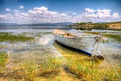 A Resident of Lake (Nejdet Duzen) Tags: trip cloud lake nature turkey view trkiye bulut manzara gl turkei manisa doa sandalboat glmarmara travelseyahat