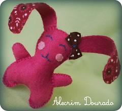 Coelhinha (Alecrim Dourado - feltro design) Tags: felt feltro coelho pascoa chaveiro lembrancinha coelhinha