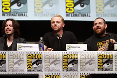 Edgar Wright, Simon Pegg & Nick Frost (Gage Skidmore) Tags: california chris simon san frost comic nick diego center edgar convention worlds end wright con hardwick pegg 2013