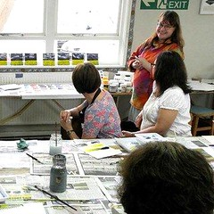 Introduction to Acrylics - 30 June 13 (ArtisOn Masham) Tags: acrylics workshops masham artison craftworkshops josiebeszant
