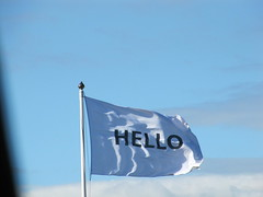 Hello - (greensambaman) Tags: hello flag