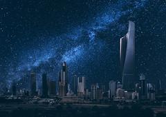 Kuwait City Under the Stars (alsultanarts) Tags: city night canon stars towers creative manipulation kuwait kuwaiti q8 milkyway natgeo alhamra alraya alsultan bnaidalgar mohammedalsultan