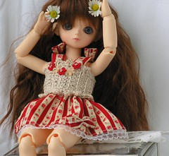 Blue Fairy BJD Dress And Hat (Doll Dresser) Tags: bjd bluefairy yosd yosddress bjdclothng