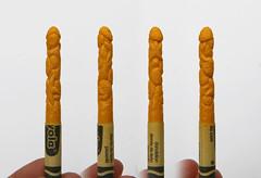 Urchin 360 View (Tiny Haus) Tags: show seattle sculpture art miniature carved rainbow artwork az carving exhibition wax alphabet crayon crayola diemchau colorfulcolor northwestnatives ggibsongallery