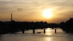 Pont des Arts   ~ Paris ~ MjYj (MjYj) Tags: world city blue sunset sea urban sun paris texture beauty silhouette contrast dark golden soleil solitude time bell days amour planet eden temps tones reflets pontdesarts encounters laseine silhuet img6546 mjyj mjyj