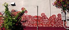 Eyeballs (See El Photo) Tags: street red urban plant streetart color colour art wall canon outside outdoors eos rebel graffiti bush eyes paint colore florida grafiti miami many graf urbanart fl spraypaint graff lots eyeballs grafite t1i canoneosrebelt1i