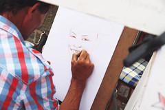 Let Me See Your Smile (endriuthomas) Tags: bridge painting prague drawing praga ponte carl carlo draw disegno