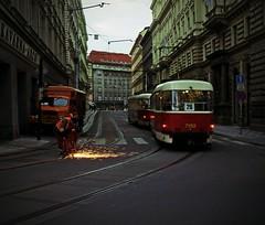 STREETS OF FIRE (explore) (kenny barker) Tags: prague explore czechoslovakia panasoniclumixgf1 kennybarker