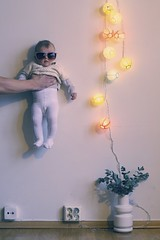 my kind party (geirt.com) Tags: light party baby white plant girl glasses wire hand floor shades what stocking hold