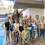 """<b>Aquatic Center Dedication of Service_100413_0326</b><br/> Photo by Zachary S. Stottler Luther College '15  Two time Olympic Silver Medalist Christine Magnuson poses with the Miller grandchildren after the dedication service.<a href=""""http://farm6.static.flickr.com/5342/10095641256_09768ccc13_o.jpg"""" title=""""High res"""">∝</a>"""